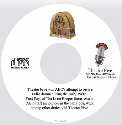 THEATER FIVE - 260 Old Time Police Drama Radio Shows - Audio MP3 DVD