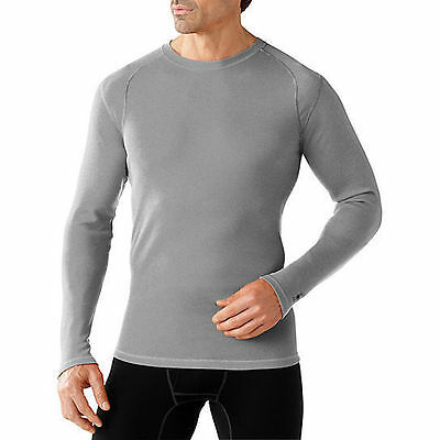 Smartwool NTS MID 250 Crew Top, Mens Shirt, Light Gray, S