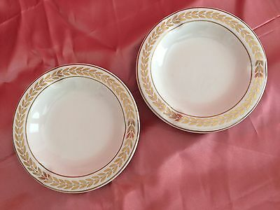 """Vintage HALL Ashtrays (2) 5 ¼"""" Dia. Marked 696 U.S.A. For Minners & Co., N.Y."""