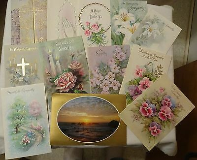 45 Used Sympathy Cards Vintage about late 1960s.