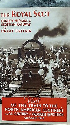 The Royal Scot train fold out booklet, London midland Scottish railway, trains