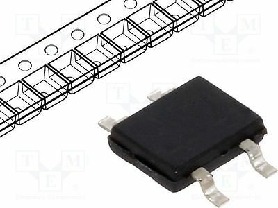 5 pcs Single phase rectifier bridge; Urmax:200V; If:0.5A; Ifsm:32A