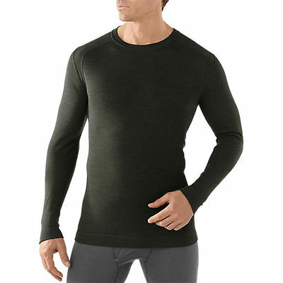 Smartwool NTS MID 250 Crew Top, Mens Shirt, Olive Heather, S