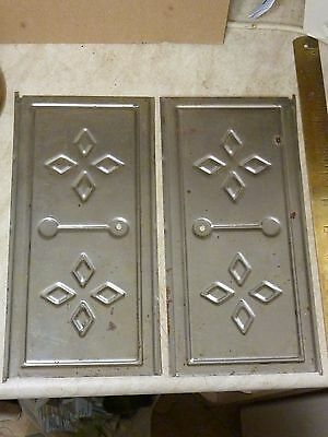 New Old Stock Pair French Comtoise Clock Movement Side Doors (A)