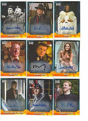 2017 Topps Doctor Who Signature Series Lot Of 12 Different Autograph Auto Cards