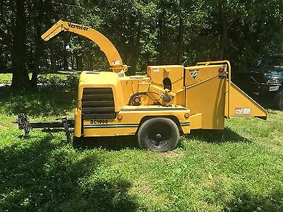 Vermeer BC1000XL Tow Behind Wood Chipper, Grinder, 2268 Hrs Cummins Diesel