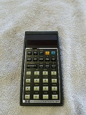 HP 32E Calculator  AS-IS Vintage NO Battery Pack Hewlett Packard 1978