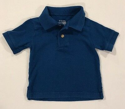 The Children's Place Brand Baby Boys Blue Polo Shirt Size 9-12 Months