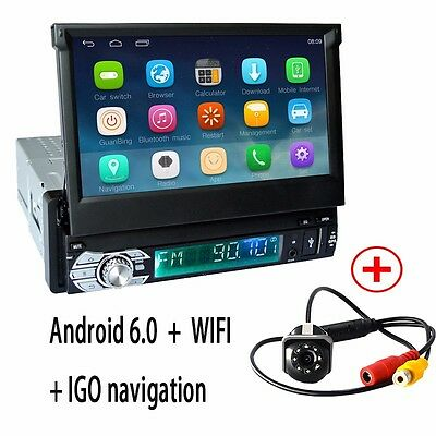 GPS+Camera Single din Android 6.0 Car Stereo Radio DVD Player central multimidia