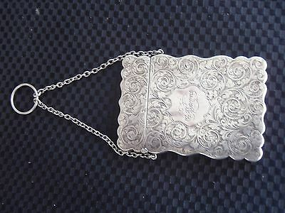English Sterling 19th Century Card Case