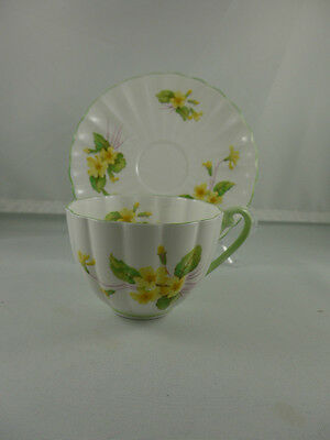 Vintage Shelley China PRIMROSE cup and saucer, England,