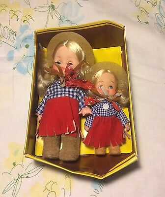Vintage Play Safe With Uneeda Cowgirl Dolls Style No 70770 Plastic