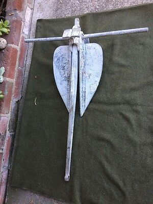 "WW2 Era 1944 U.S.Navy Hubbard & Co. Boat Ship Anchor LWT 30 LB-P  35"" Tall"