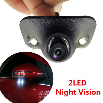 2 LED Car Side View Cam Wide Angle Blind Spot Camera Waterproof Night Vision New