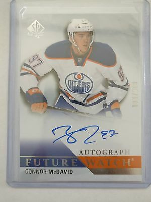 2015-16 SP Authentic Hockey - Connor McDavid - Future Watch Auto  Rookie #'d/999