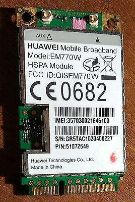 Huawei EM770W - 3G GPS HSPA WCDMA WWAN mobile broadband card for Dell Acer and