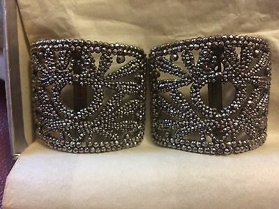 Pair of Antique Victorian Cut Steel Marcasite Shoe Buckles Very nice