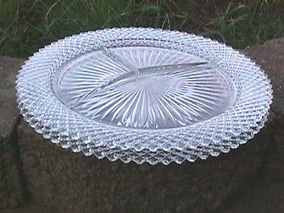*miss America Crystal (2) Grill Plates Anchor Hocking #3 109-110-F