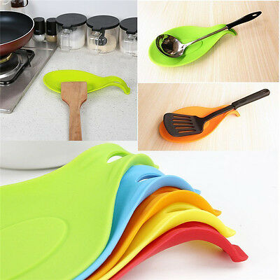 New Kitchen Spoon Rest Heat Resistant Teabag Spatula Holder Dish Cooking Tools