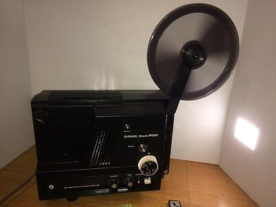 Chinon 6000 SOUND 8mm Movie Film Projector Tested Working Clean W/Original Box