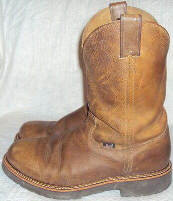 Justin, Men's Brown Leather Boot, Size  11 D