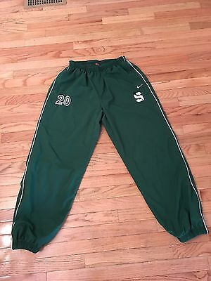 Michigan State Spartans NCAA Nike Team Issued Used Lacrosse Warm Up Pants