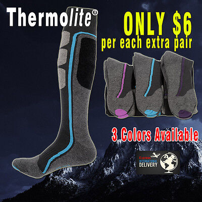 PERYSHER Active Sports Socks: Thermolite Unisex Ski / Hiking Socks - Size S