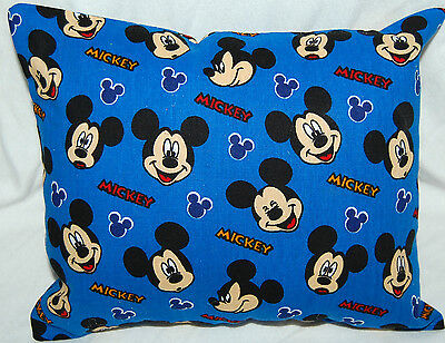 New Handmade Disney Mickey Mouse  Faces Mini  Pillow ~ Blue