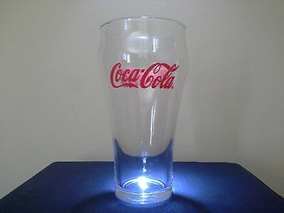 6 in.  Red Lettering Coca Cola Glass