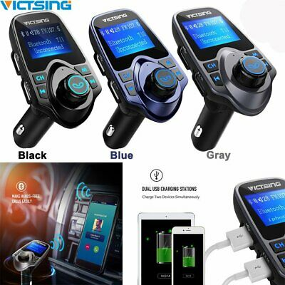 Victsing Bluetooth Wireless FM Transmitter Car MP3 Radio Adapter USB Charger Kit