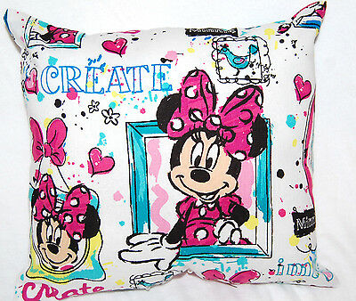 New Handmade Mini Disney Minnie Mouse Frames White Travel/ Car /toddler Pillow