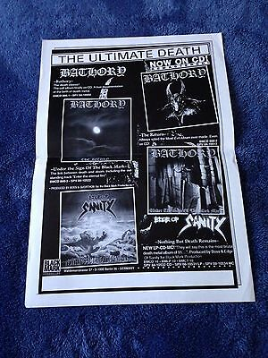 BLACK MARK PRODUCTION Bathory Promotional POSTER (42cm x 29.5cm) EDGE OF SANITY