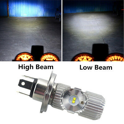 1x H4 Cree Universal Motorcycle Headlight Bulb High Low Beam Super Bright 1400LM