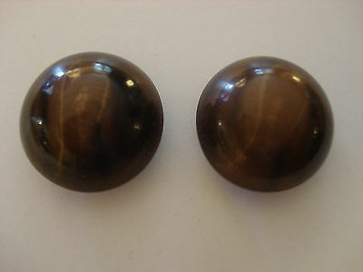 Pair of Vintage Vegetable Ivory Dome Top Buttons