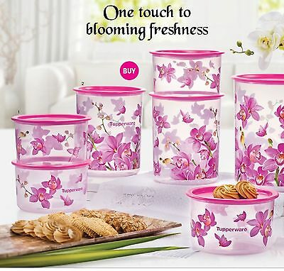 Tupperware orchid elegance one touch seal set (6)
