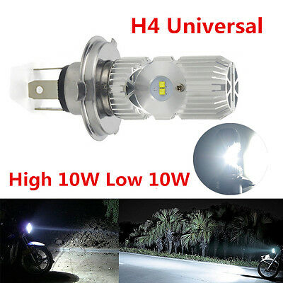 H4 Cree LED Motorcycle Bulb High/Low Headlight White for Honda KTM Ducati KTM