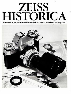 ZEISS HISTORICA_The Journal of the Zeiss Historica Society _ Vol 17 -1 _ 1995