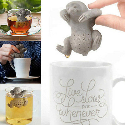 Kitchencraft Fred Slow Brew Loose Tea Leaf Infuser Sloth Shaped In Cup Brewer