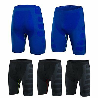 Mens Quick Dry Compression Boxer Sport Shorts Briefs Tight Base Layer Gym Pants