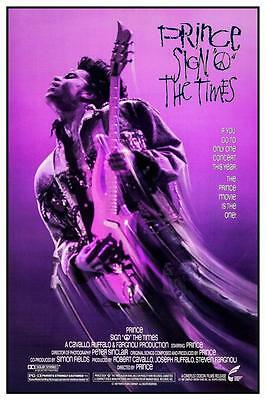 Prince - *LARGE POSTER*  Sign O The Times -  AMAZING Purple PICTURE -  Must See