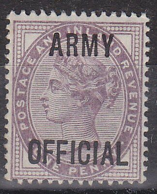 GB QV - SG O43 - Army OFFICIAL 1d - unmounted mint