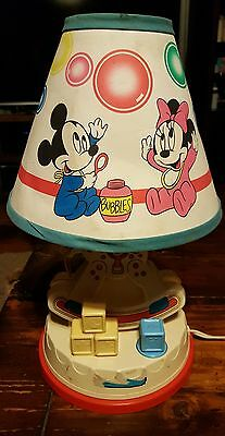 Vintage  Walt Disney Baby Mickey and Minnie Mouse nursery lamp