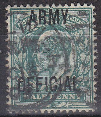 GB KGVII - SG O48 - Army OFFICIAL ½d - used