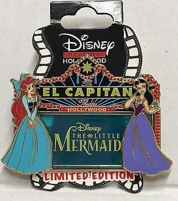 DSF Disney Soda Fountain El Capitan Marquee Little Mermaid Vanessa LE 400 Pin 3D