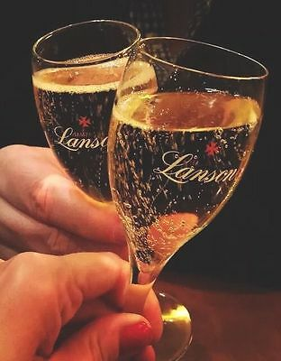 Lanson Champagne Glasses Flutes X 2 Brand New Unboxed
