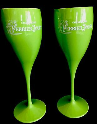 Perrier Jouet Polycarb Champagne Hot Tub Poolside Flutes New Unboxed X 4 Flutes