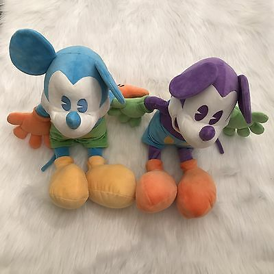 Lot Of 2 RARE Disneyland Resort Disney Official Merchandise Mickey Mouse Plush