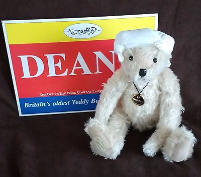 Deans Mohair Teddy Bear - Knotted Hankie - L/e 61 Of 150 - New With Tags