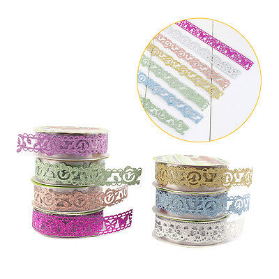 SELF-adhesive Lace Sticky Paper Washi Tape Sticker Scrapbooking Decorative DIY