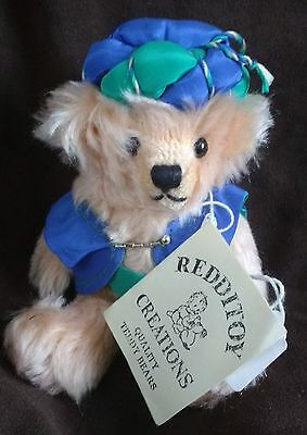 """Sultan Bear - 7"""" Mohair Artist Bear By Redditoy Creations, Uk - New With Tags"""